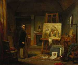 John Ballantyne - Thomas Faed (1826–1900), Artist, in his Studio