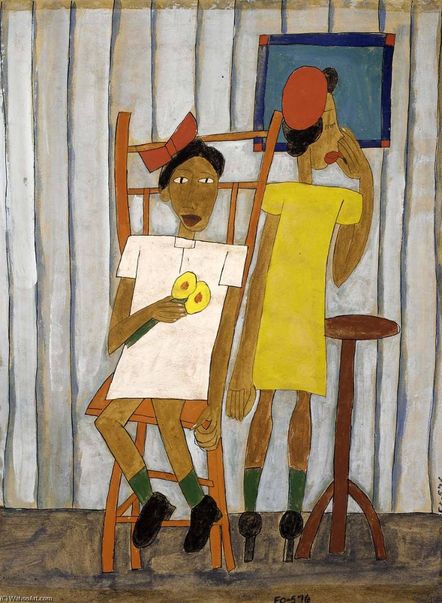 Going Out, 1942 by William Henry Johnson (1901-1970, United States) | Art Reproduction | ArtsDot.com