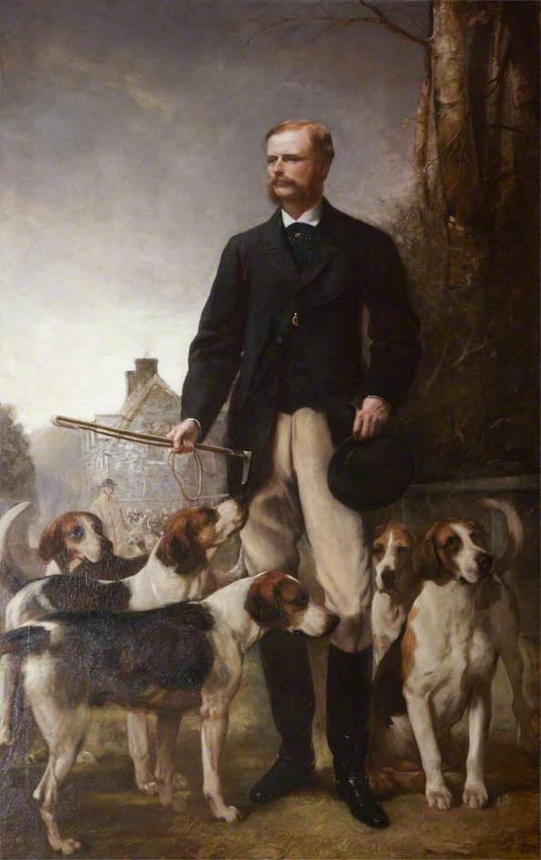 The Honourable Mark George Kerr Rolle (1835–1907), High Steward (1861–1907), 1871 by Henry Richard Graves | Museum Art Reproductions Henry Richard Graves | ArtsDot.com