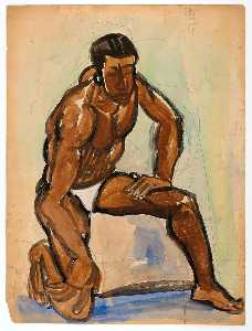 William Henry Johnson - Kneeling Male Model