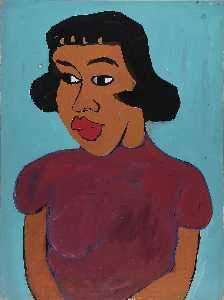 William Henry Johnson - Woman in a Maroon Blouse