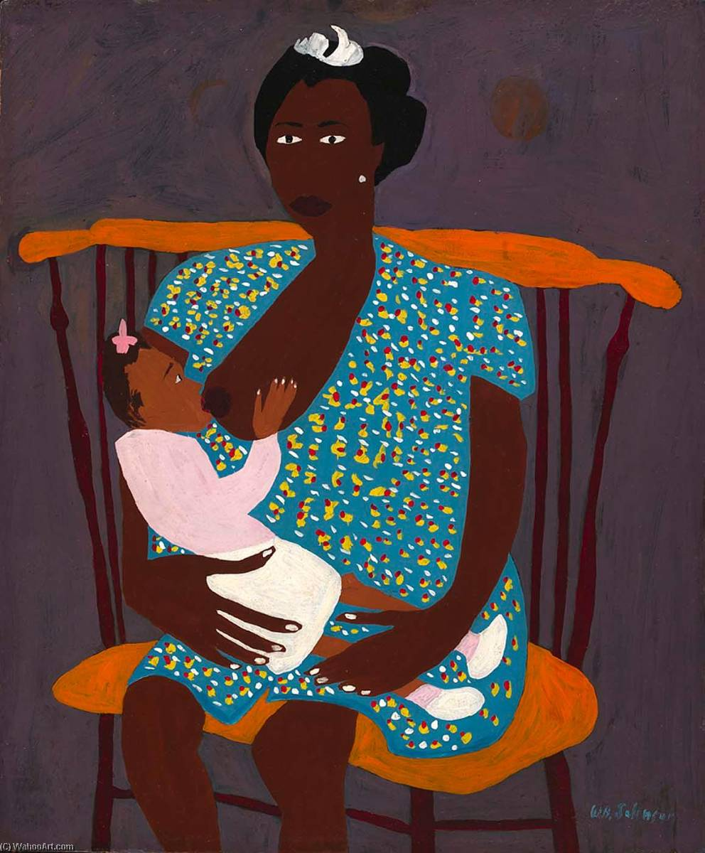 Sis and L`il Sis, 1944 by William Henry Johnson (1901-1970, United States) | Museum Quality Reproductions | ArtsDot.com
