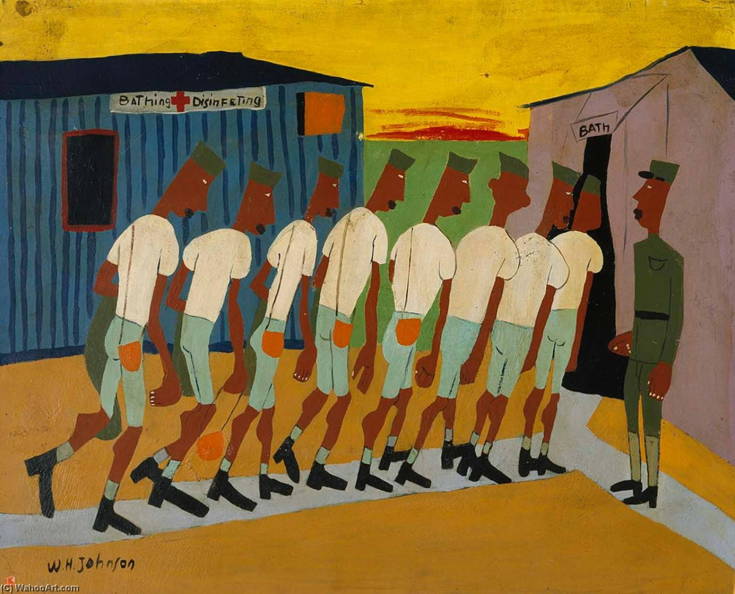 Disinfecting, 1944 by William Henry Johnson (1901-1970, United States) | Art Reproduction | ArtsDot.com