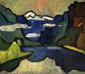 William Henry Johnson - Mountains and Sea, Hardanger Fjord, Norway