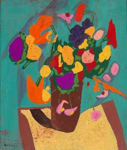 William Henry Johnson - Still Life Flowers