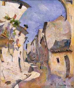 William Henry Johnson - Street in France (Street in Cassis I)