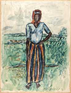 William Henry Johnson - African Woman Study in Tunis