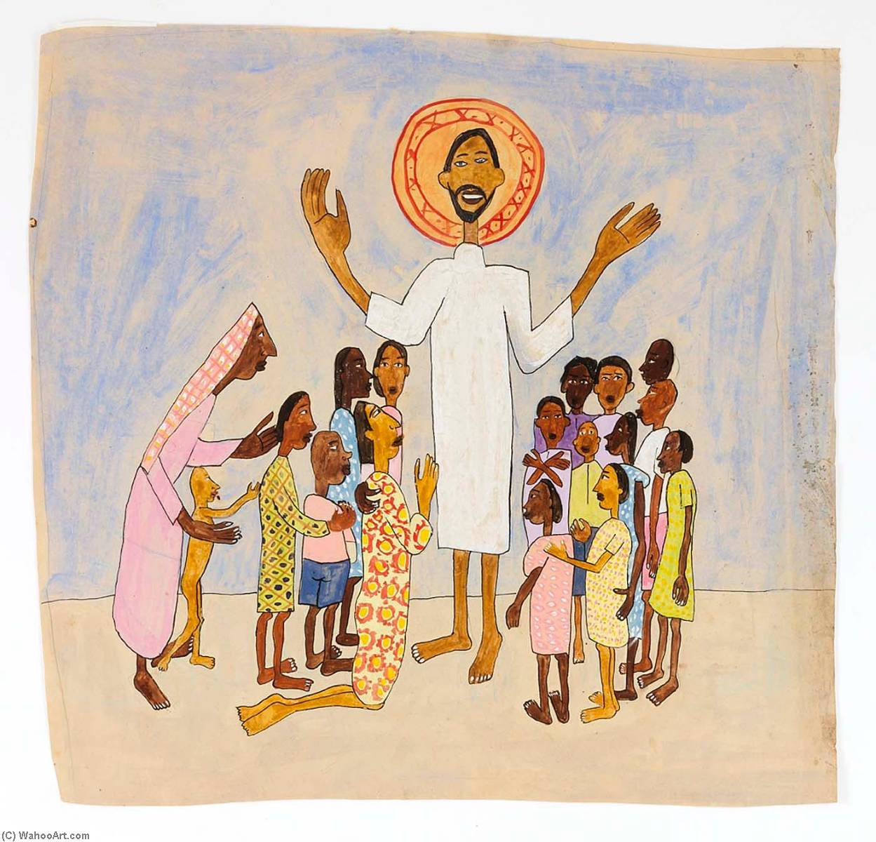 Come Unto Me, Little Children, 1944 by William Henry Johnson (1901-1970, United States) | Painting Copy | ArtsDot.com