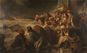 Thomas Brooks - The Lifeboat Going to the Rescue