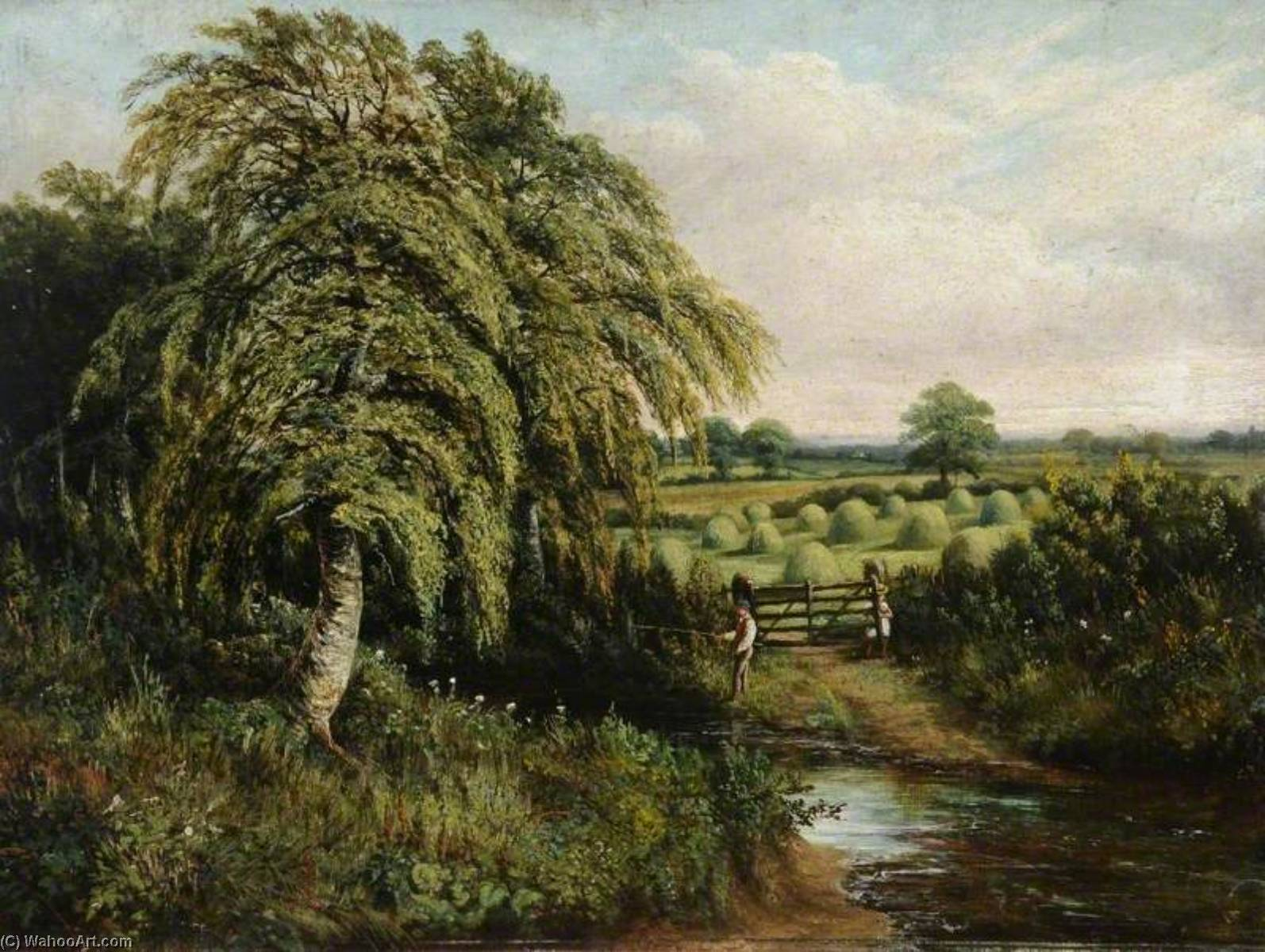 Landscape of Cawthorne Village, South Yorkshire by Benjamin Hold | Museum Art Reproductions | ArtsDot.com