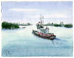 Theodore Hancock - Tugboat at Fort Pierce