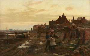 William Teulon Blandford .. - Bosham Harbour at Low Tid..