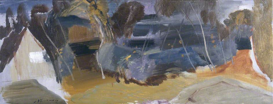 Trees from a House Roof Autumn, 1947 by Ivon Hitchens | Museum Quality Reproductions | ArtsDot.com