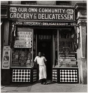 Grocery Store, 1940 by Aaron Siskind (1903-1991, United States) | Oil Painting | ArtsDot.com