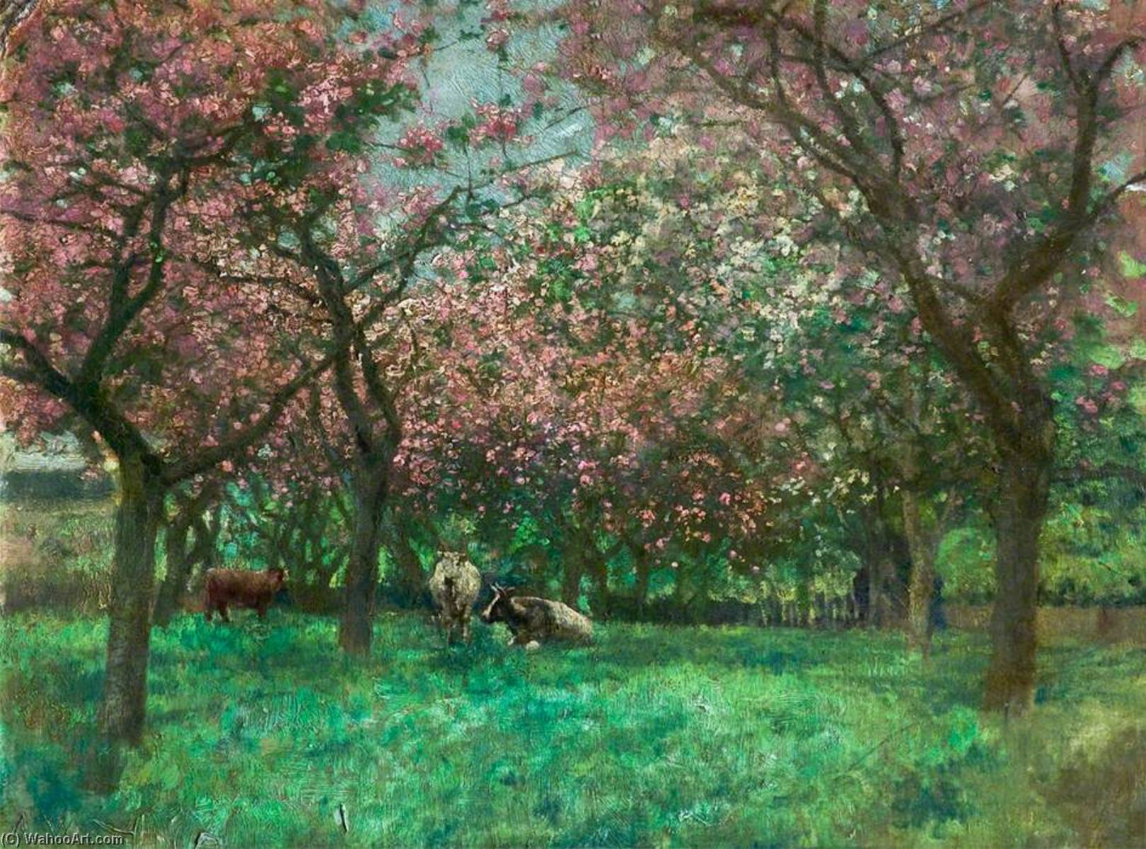 Mr Bland`s Orchard, Heighington, Lincoln by Alfred George Webster | Museum Art Reproductions | ArtsDot.com