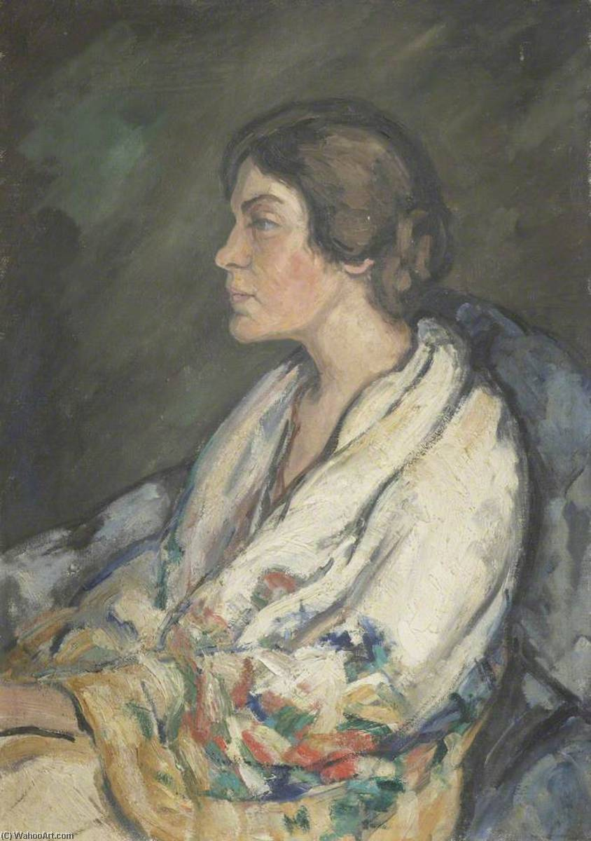 Gamel Woolsey (1895–1968), Wife of Gerald Brenan (1894–1987), 1930 by Gertrude Mary Powys | Painting Copy | ArtsDot.com