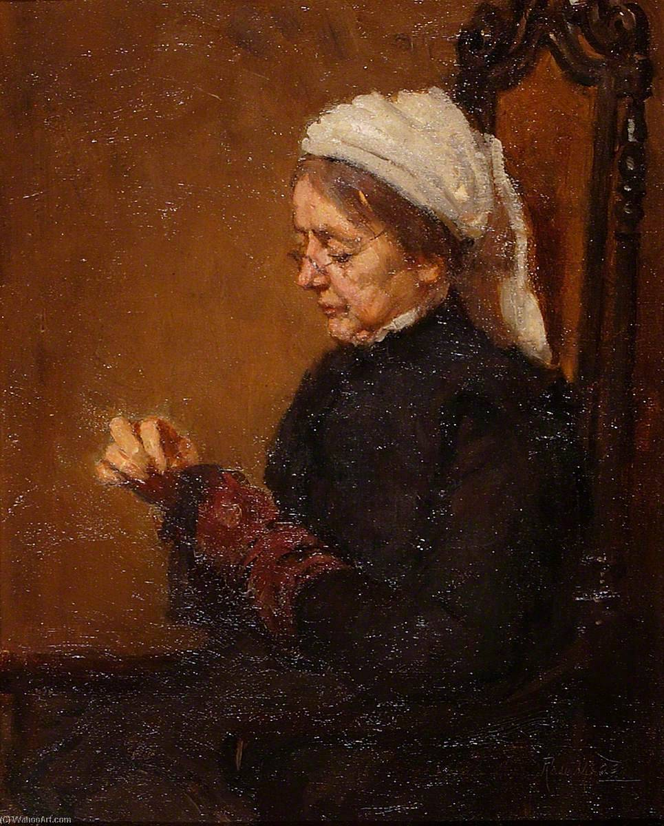 Mrs Mead, Darning Socks, 1910 by Rose Mead | Museum Quality Reproductions | ArtsDot.com