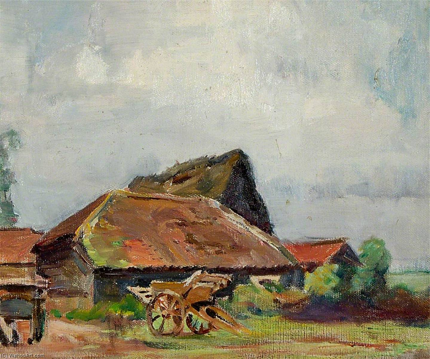 A Cart with Barns, 1930 by Rose Mead | Museum Art Reproductions | ArtsDot.com