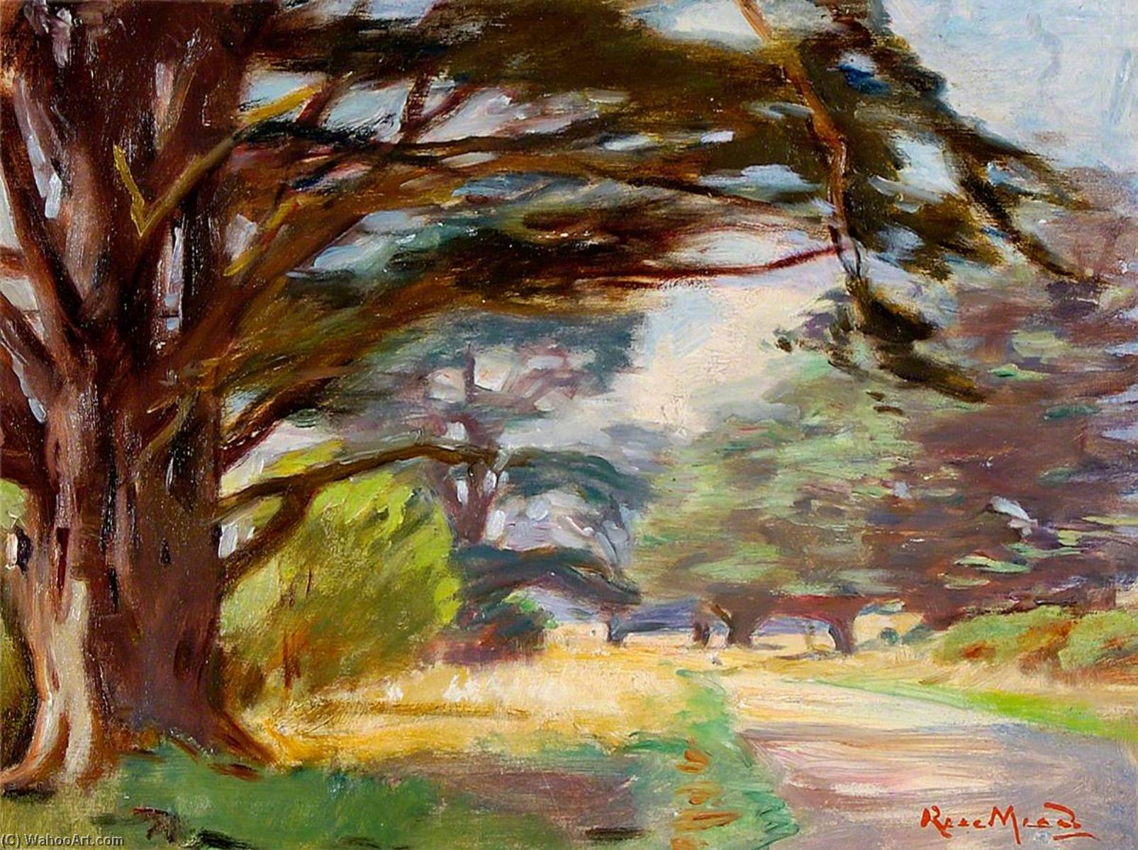 Path and Trees, 1930 by Rose Mead | Art Reproduction | ArtsDot.com