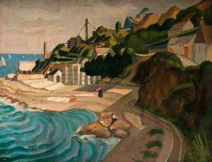 John Currie - Newlyn, Looking towards M..