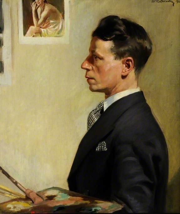 Self Portrait, 1928 by William Ramsden Brealey | Painting Copy | ArtsDot.com