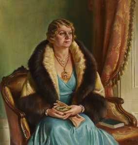 William Ramsden Brealey - Mrs C. H. Curtis, Mayoress of Brentford and Chiswick Borough Council (1933–1934)
