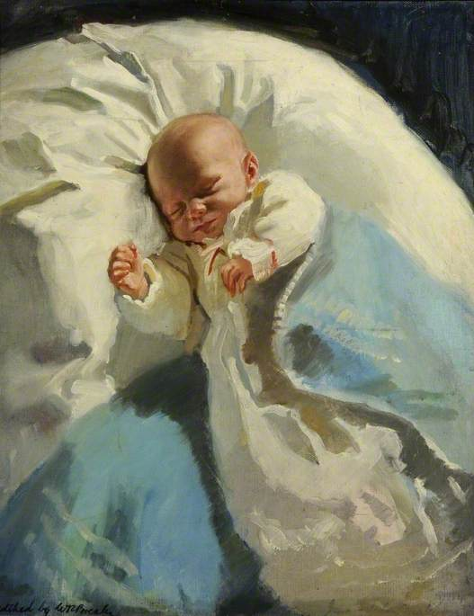 Portrait of a Baby by William Ramsden Brealey | Museum Quality Reproductions | ArtsDot.com