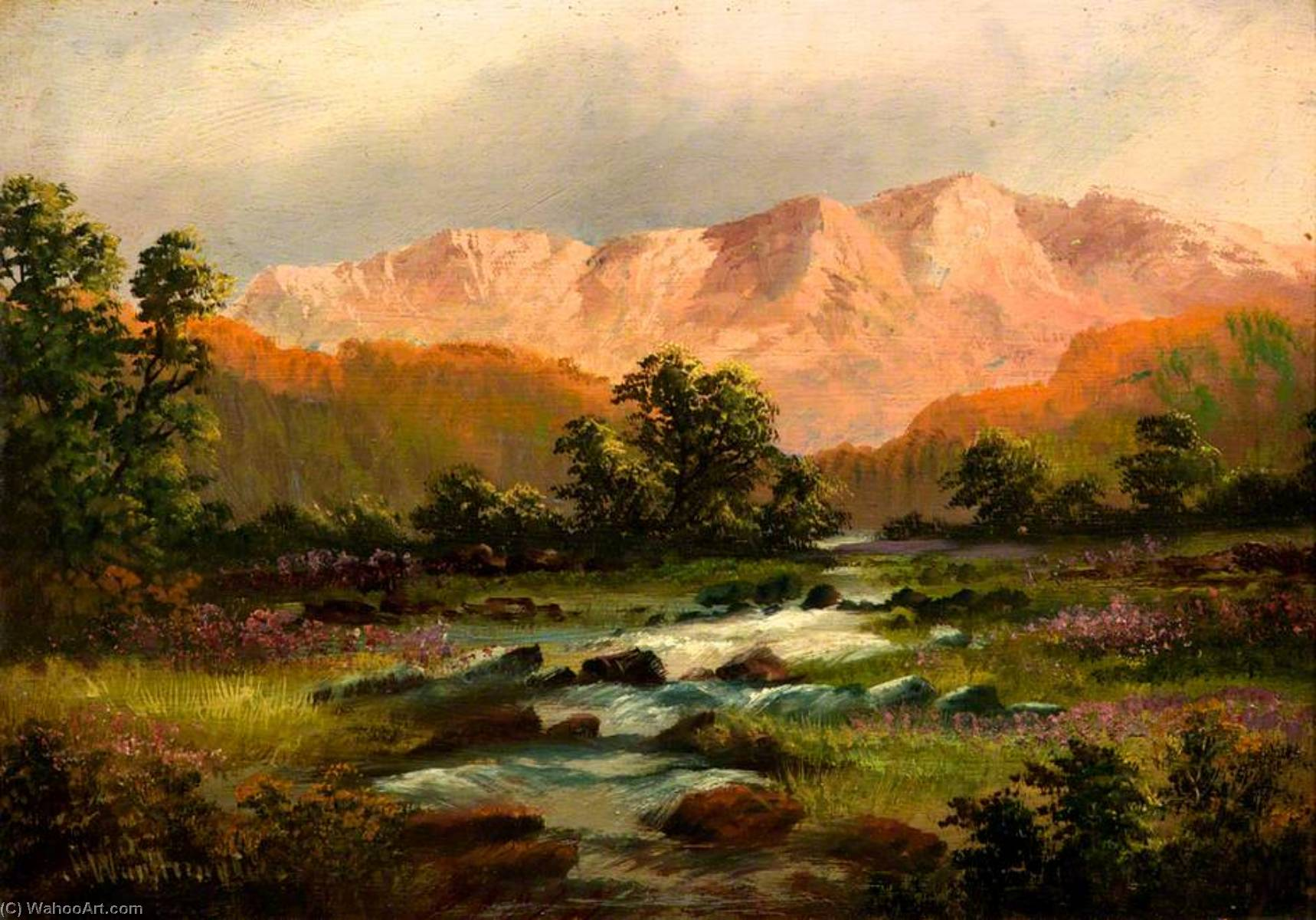 Landscape with Mountains by Alfred Worthington | Art Reproduction | ArtsDot.com