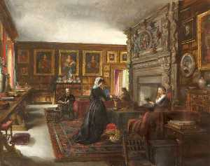 Rebecca Dulcibella Orpen - The Great Hall, Baddesley..