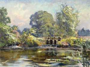 Percival Arthur Wise - Mill Pond, Wimborne, Dorset