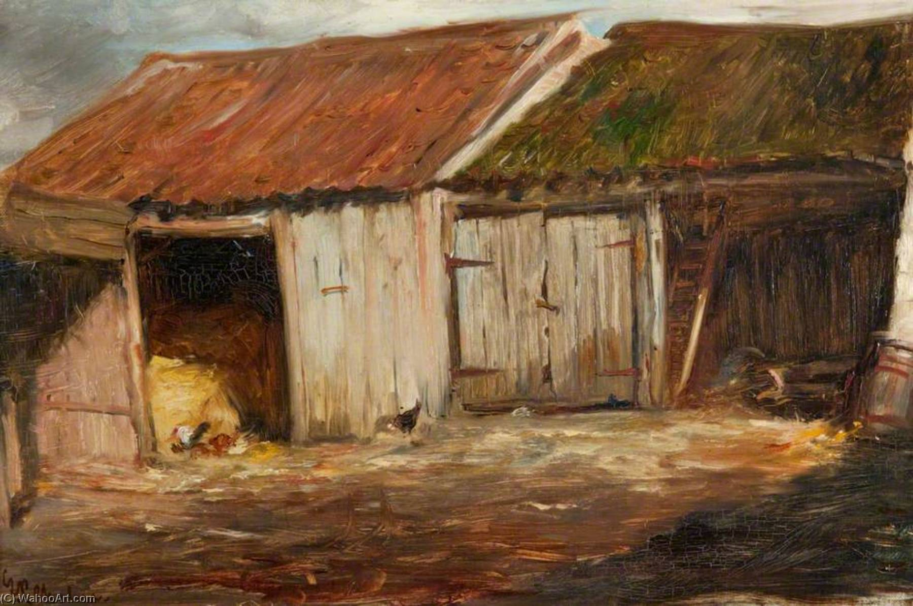 Old Sheds by George Paul Chalmers | Painting Copy | ArtsDot.com