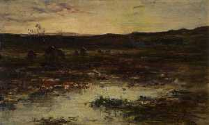 George Paul Chalmers - Peat Hags on the Moor