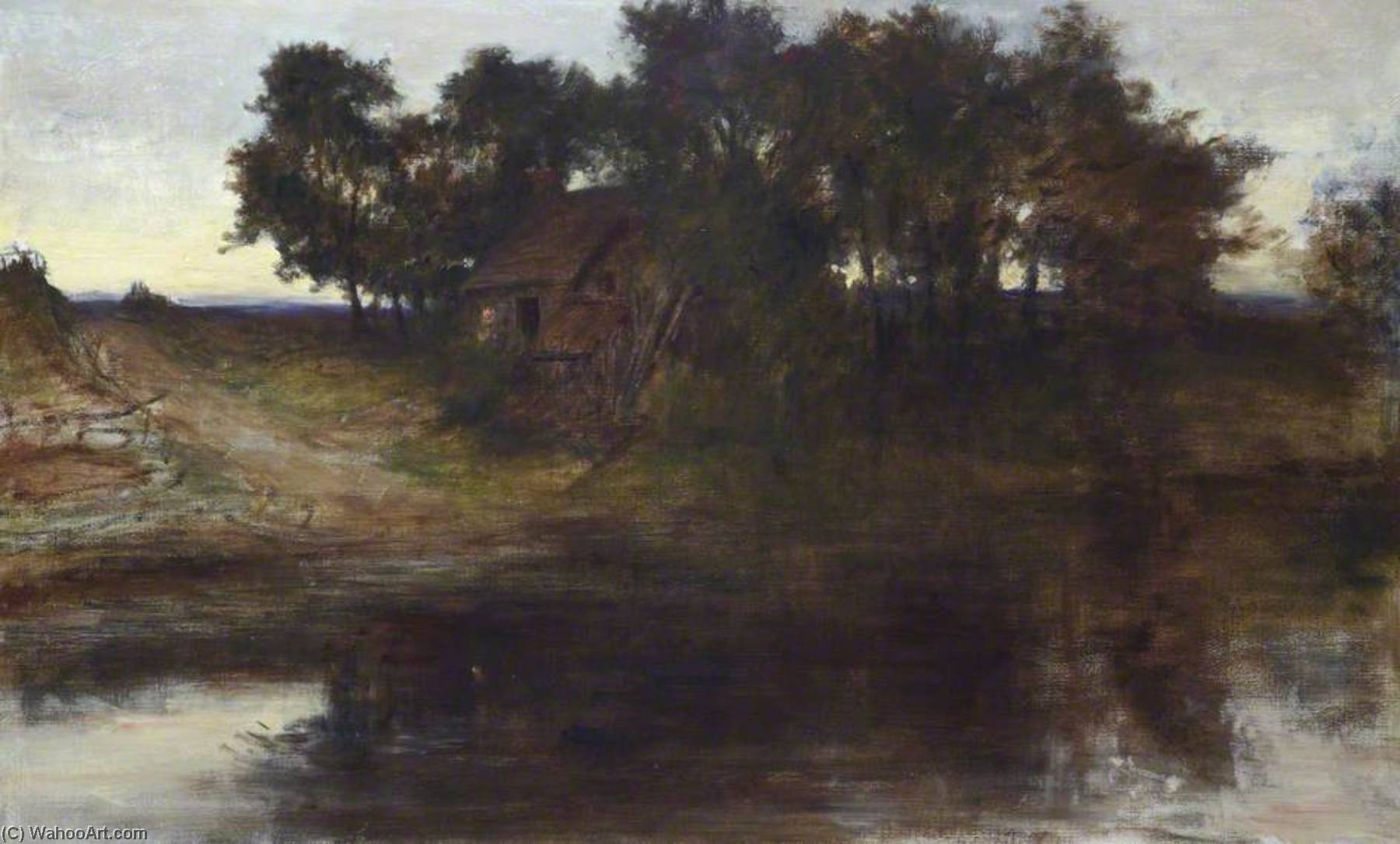 The Ford by George Paul Chalmers | Paintings Reproductions George Paul Chalmers | ArtsDot.com
