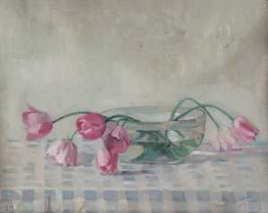 Dorothy W Moore - Pink Tulips