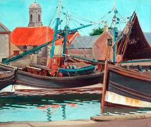 Dorothy W Moore - The Harbour, Eyemouth, Be..