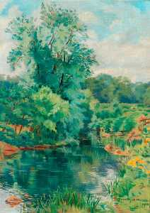 Dorothy W Moore - On the River at Lesbury, ..