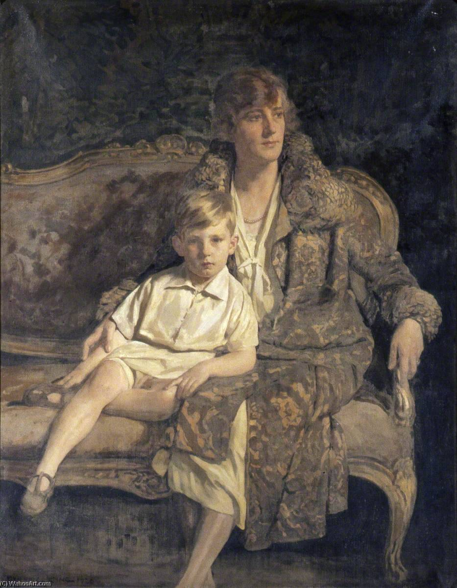 Order Art Reproduction : Mrs Hodges and Her Son, 1921 by Gunning King | ArtsDot.com