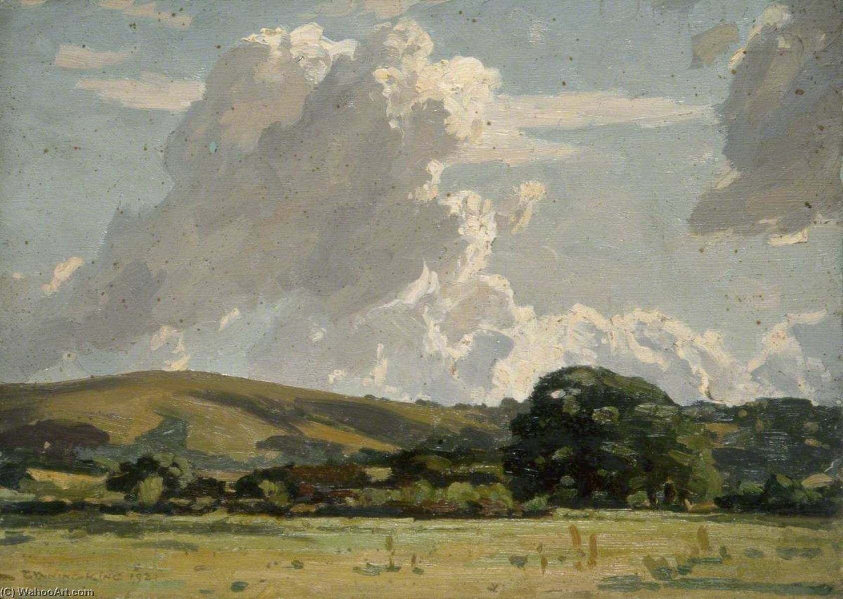 Order Oil Painting : Landscape and Cloud Study, 1921 by Gunning King | ArtsDot.com