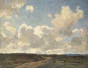Gunning King - Landscape with Large Cloudy Sky