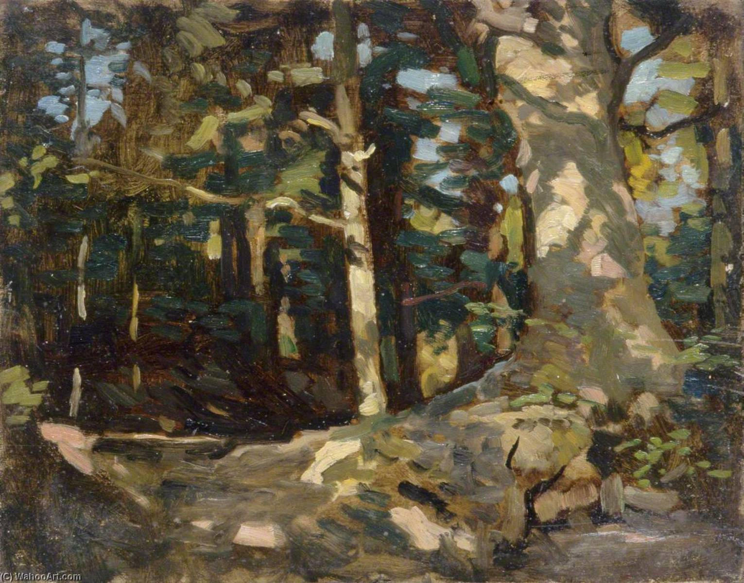 Forest Scene, 1930 by Gunning King | Painting Copy | ArtsDot.com