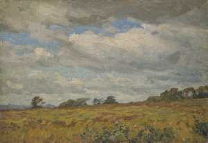 Gunning King - Landscape with Grey Clouds