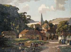 Gunning King - Harting Village and Pond, West Sussex
