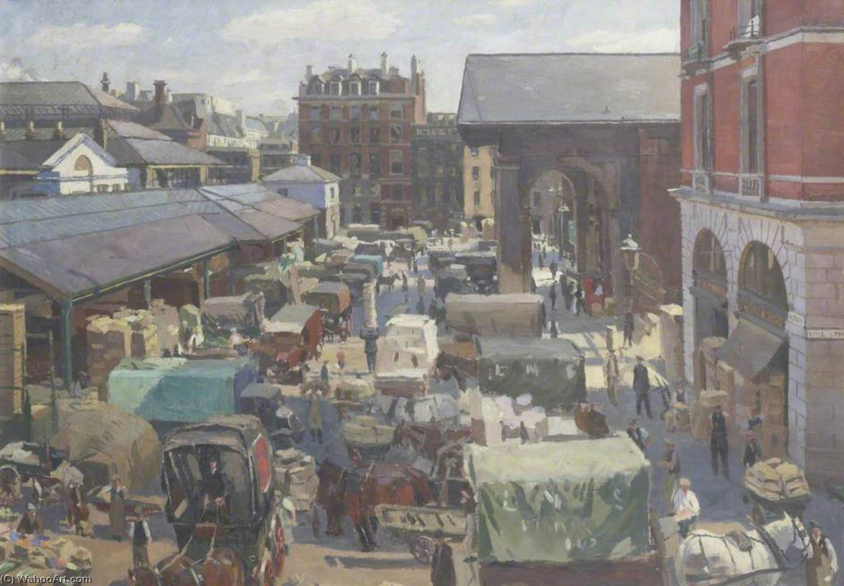 Covent Garden, 1934 by Donald Chisholm Towner | Museum Art Reproductions Donald Chisholm Towner | ArtsDot.com