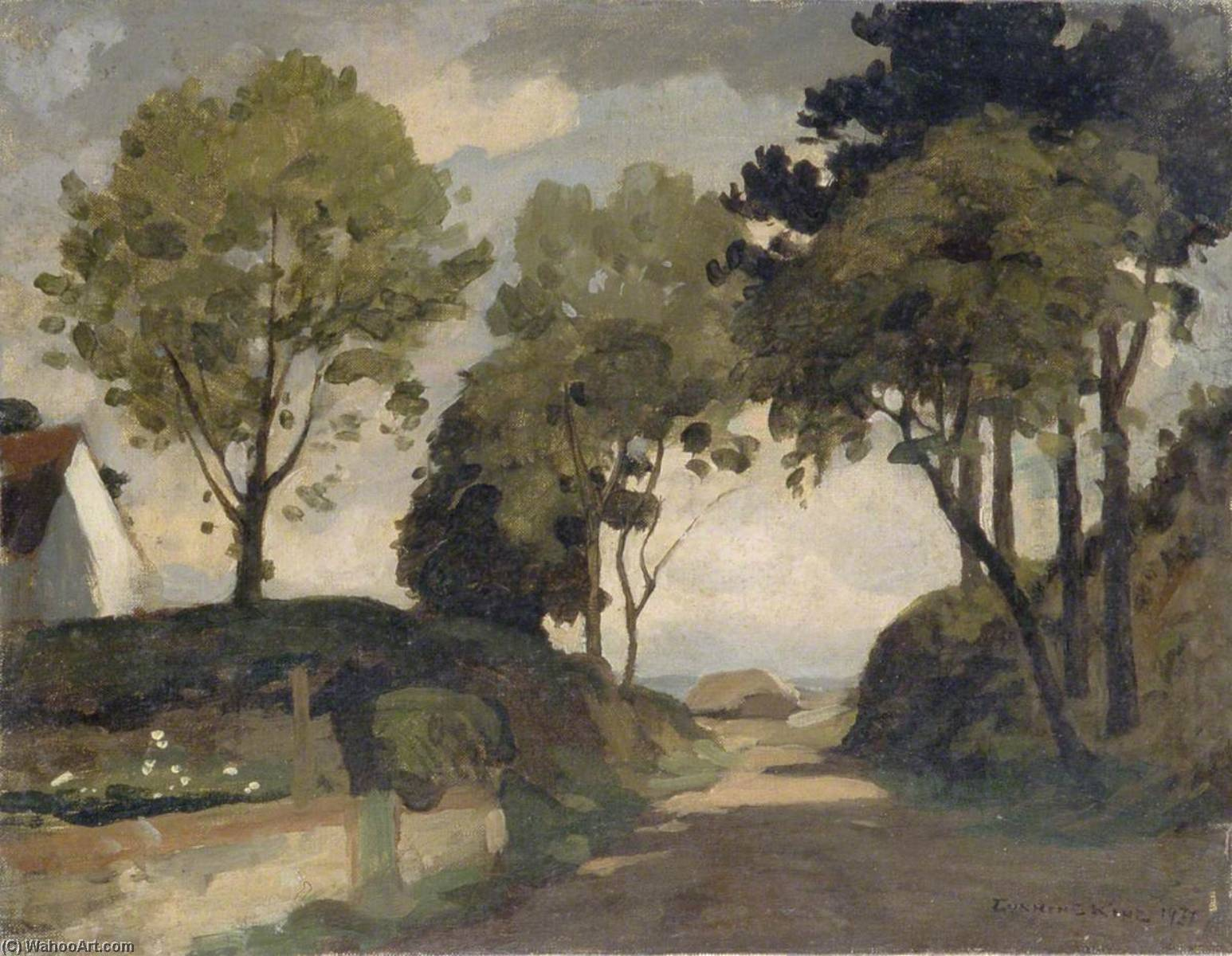 Mill Lane, Harting, West Sussex by Gunning King | Oil Painting | ArtsDot.com