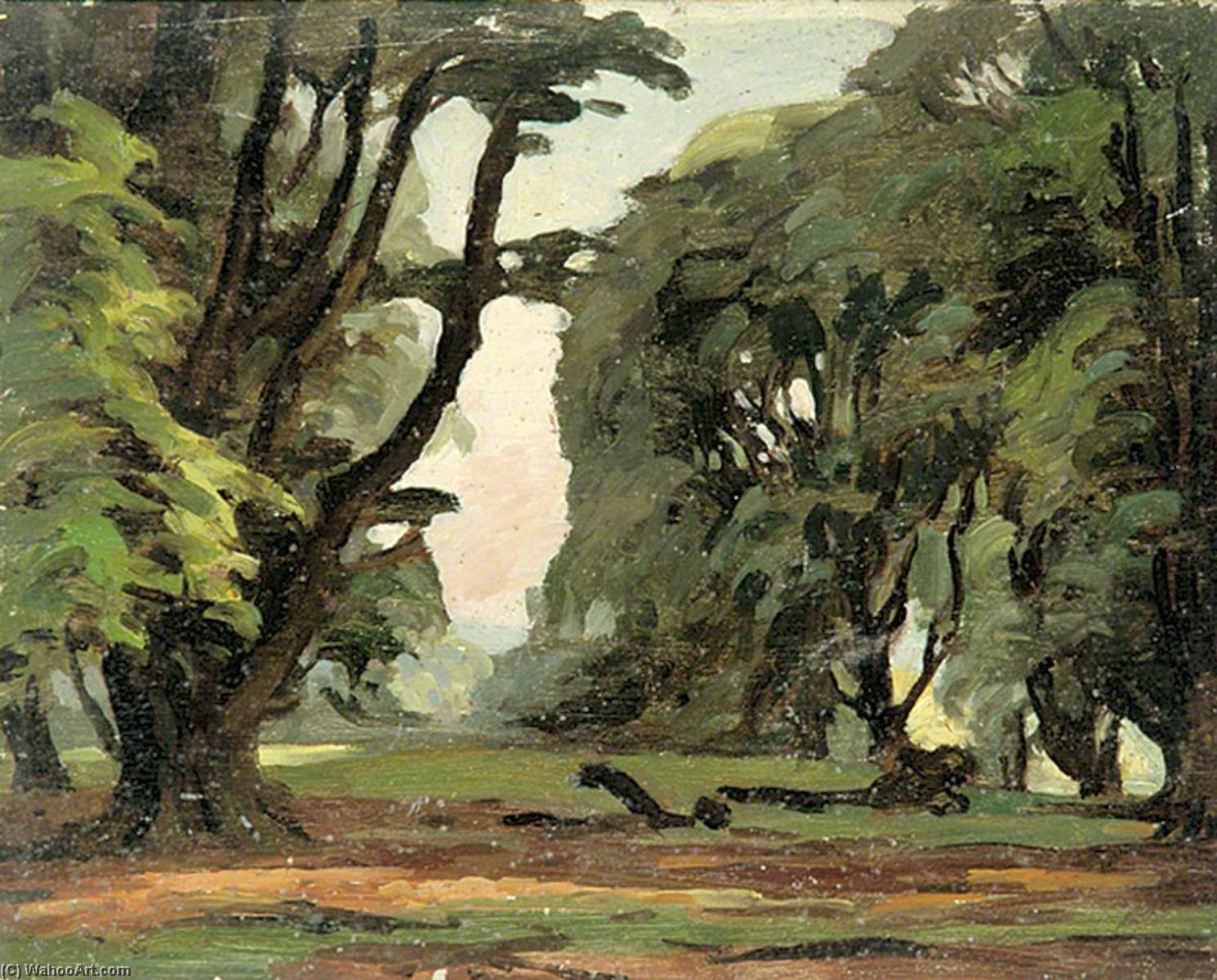 Scene with Trees by Gunning King | Oil Painting | ArtsDot.com