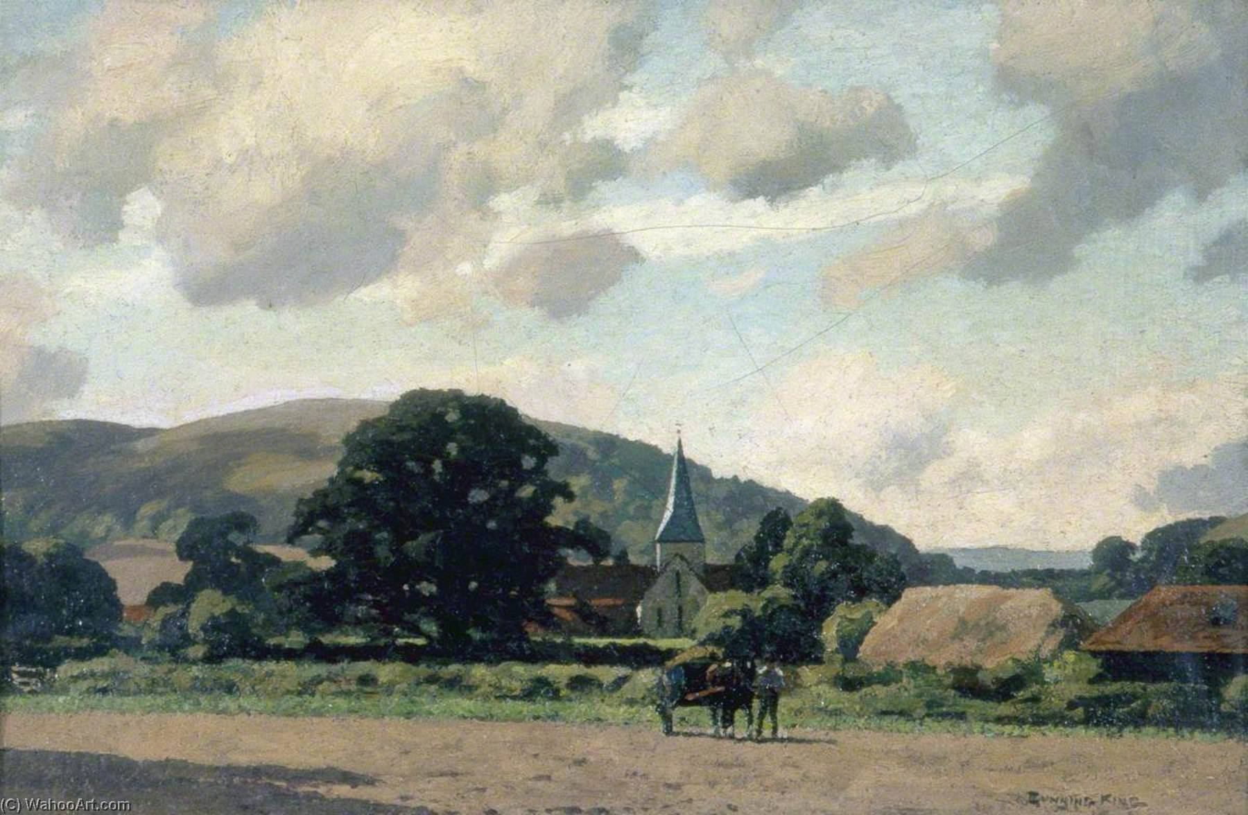 Harting Church, West Sussex by Gunning King | Museum Art Reproductions | ArtsDot.com