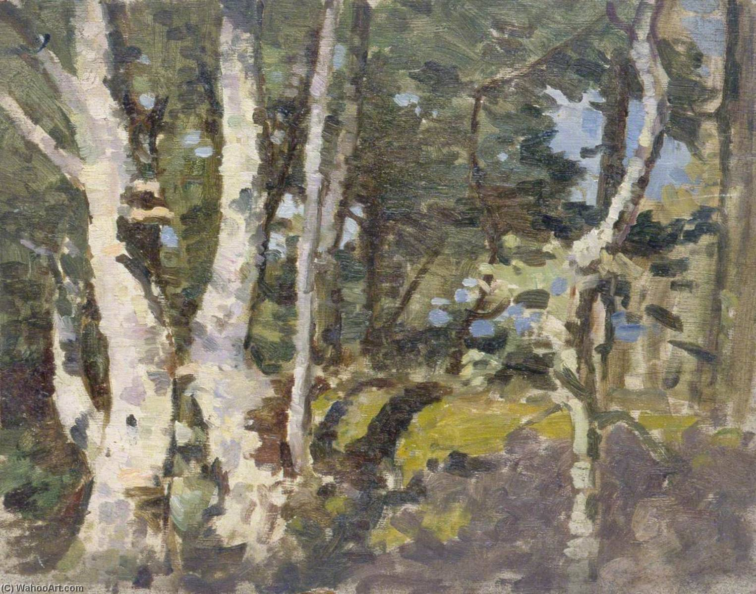 Landscape with Silver Birches by Gunning King | Painting Copy | ArtsDot.com