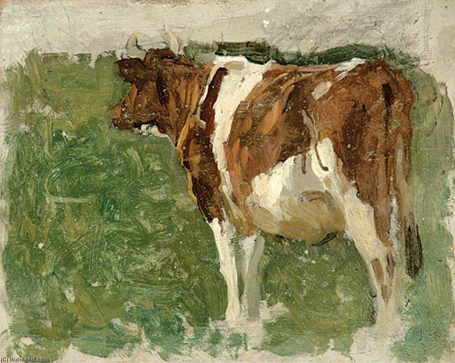 Order Museum Quality Reproductions : Cow in a Field by Gunning King | ArtsDot.com