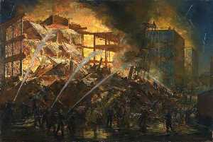 Charles Ernest Cundall - The Destruction of a Birm..
