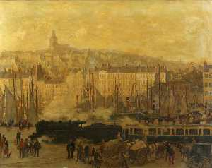 Charles Ernest Cundall - The Boulogne Express